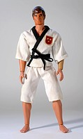 Toy human figure wearing gi
