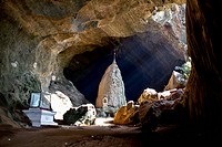 A Buddhist shrine in a cave, Hpa_An, Kayin State, Burma