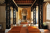 Interior view, St. Mary's Church, remodelled into the Baroque in the 18th Century, originally a brick building from the 13th Century, Ribnitz-Damgarte...