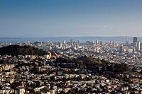 View over San Francisco, California, USA