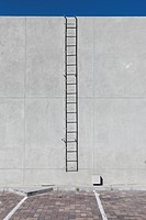 A ladder on the side of a building