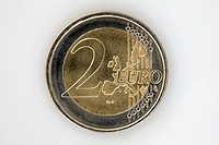 A two Euro coin, close_up