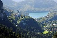 Schloss Neuschwanstein in Bayern, Deutschland , neuschwanstein castle in bavaria, germany