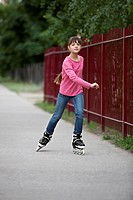 A girl inline skating (thumbnail)