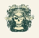Skull Pirate _ retro card