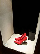 Shoes on display at shop window (thumbnail)