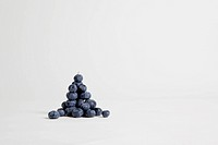 A heap of blueberries, studio shot