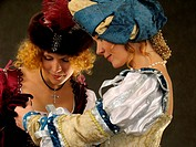 Girls in historical clothes of 16_17 centuries