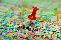 Thumbtack on map _ Berlin
