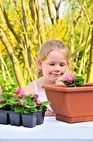Little girl _ gardening