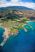 Hawaii, Maui, Aerial view of Kapalua Bay