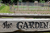USA, Washington State, Stehekin, Organic Garden Sign