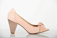 woman shoes on white background
