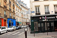 Old, historic architecture in Paris France, Europe, street scene