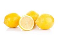Fresh lemons, isolated on white background