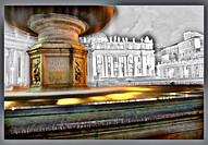 Piazza San Pietro a Roma. Elaborazione grafica