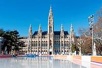 Eislaufplatz vor Wiener Rathaus