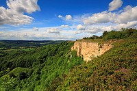 Sutton Bank, Whitestone Cliffs, Cleveland Way, North York Moors National Park, North Yorkshire, England, UK