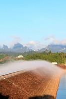 Beautiful landscape of Ratchaprapha dam, Thailand