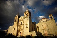 Facade of the church and former monastery of Santo Domingo in Oaxaca, Mexico