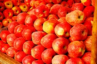 Close up of apples for sale