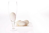 Eggs and a glass