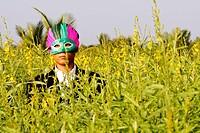 Businessman wearing a mask