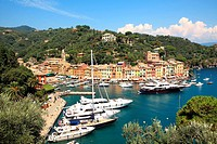 Aerial view on Portofino. Liguria, Italy.