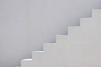 Greece, Whitewashed facade with staircase at Santorini