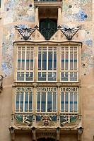 Art Nouveau in the Old Town of Palma de Mallorca, Mallorca, Majorca, Balearic Islands, Spain