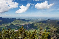 Germany, Bavaria, View of Chiemgauer Alpen