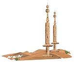 Arab structures in desert