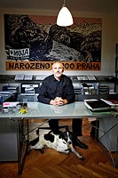 Director of Prague´s ZOO Petr Fejk is portrayed with his dog in the office at Prague´s ZOO, Czech Republic Petr Fejk has become director of Czech Cent...