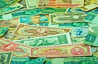 Old Brazilian money in paper