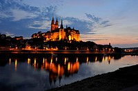 Albrechtsburg in Meissen, Saxony, Germany, night shot