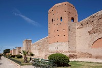 Walls of the Old and Medina, Marrakesh, Morocco, North Africa, Africa
