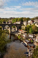 Viaduct and River Nidd at Knaresborough, North Yorkshire, England