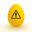 Yellow Egg _ Polluted Food _ Attention Sign