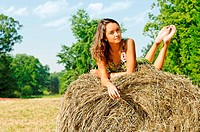 Woman at the haystack