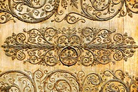 Wooden door detail