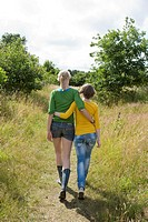 Girls arm in arm