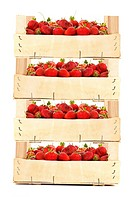 Boxes with strawberries