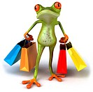Frog shopping