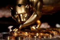Golden Jaguar Figurine