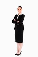 Attractive female in suit posing