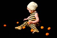 Baby_bee with tangerines