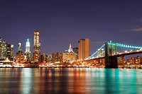 Urban Manhattan New York City skyline