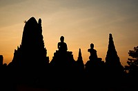 Silhouette of the temple