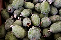 Pineapple guavas feijoas at a farmers´ market