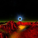 Solar eclipse in alien planetary system